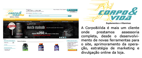 Corpo&Vida - E-commerce